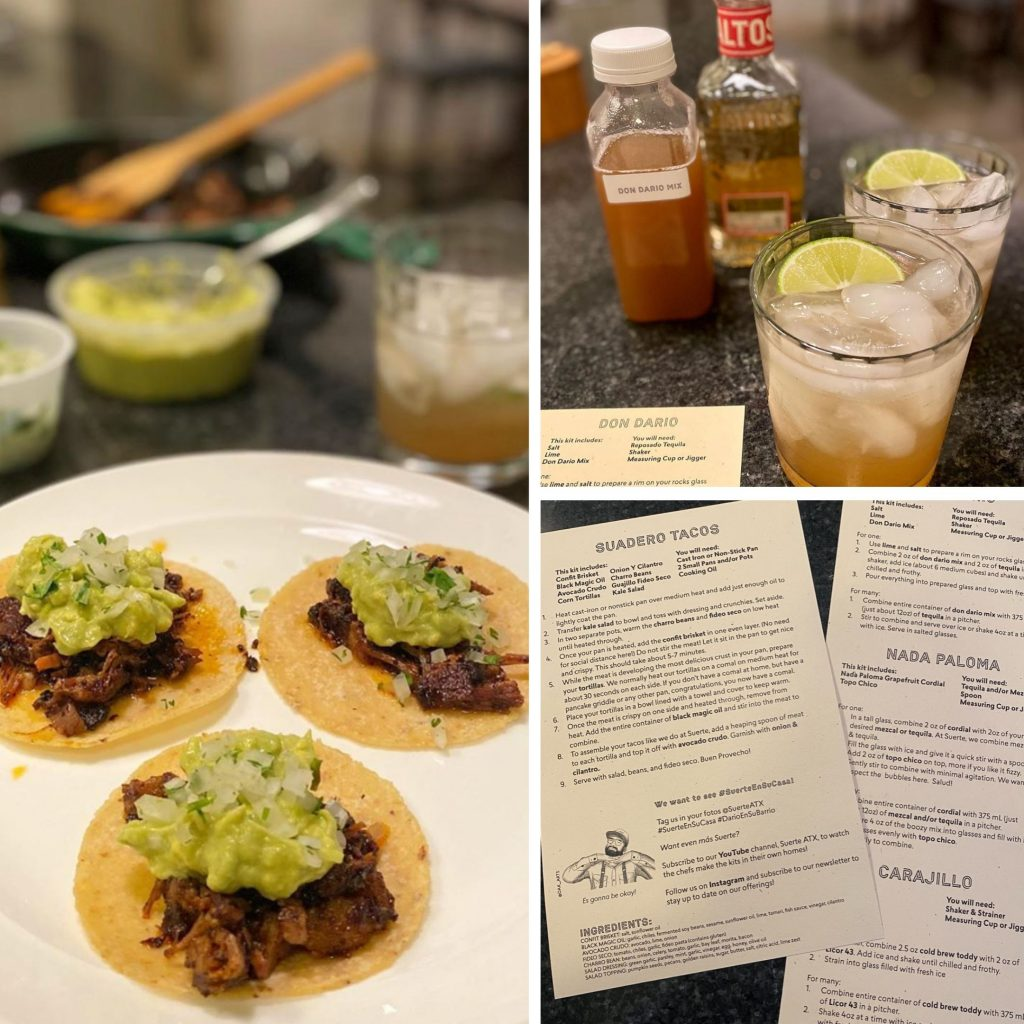 Austin Gluten-free Curbside Delivery Meals and Margaritas from Suerte