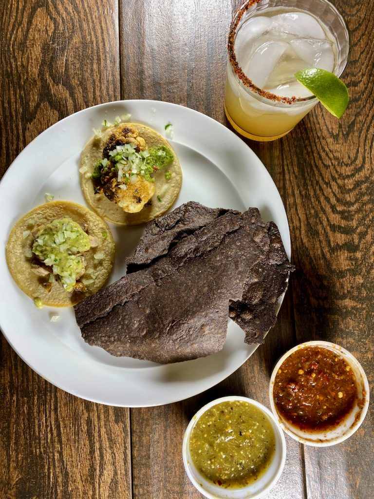 Suerte Tacos, Chips, Salsa, and Don Darios Margarita