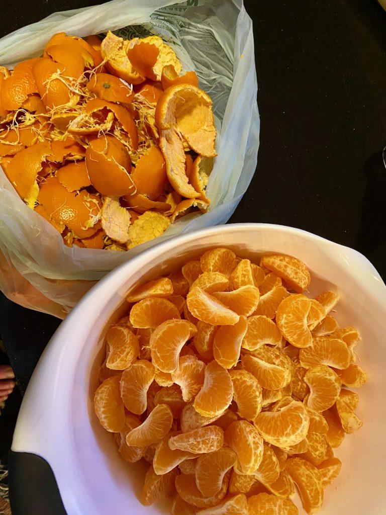 Peeling and Segmenting Organic Mandarin Oranges