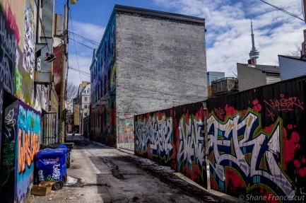 graffiti & cn tower