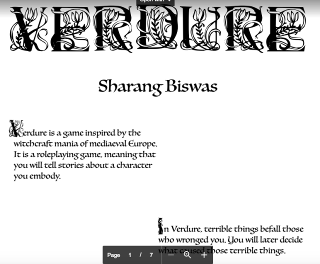 Sharang Biswas: Verdure Update and More