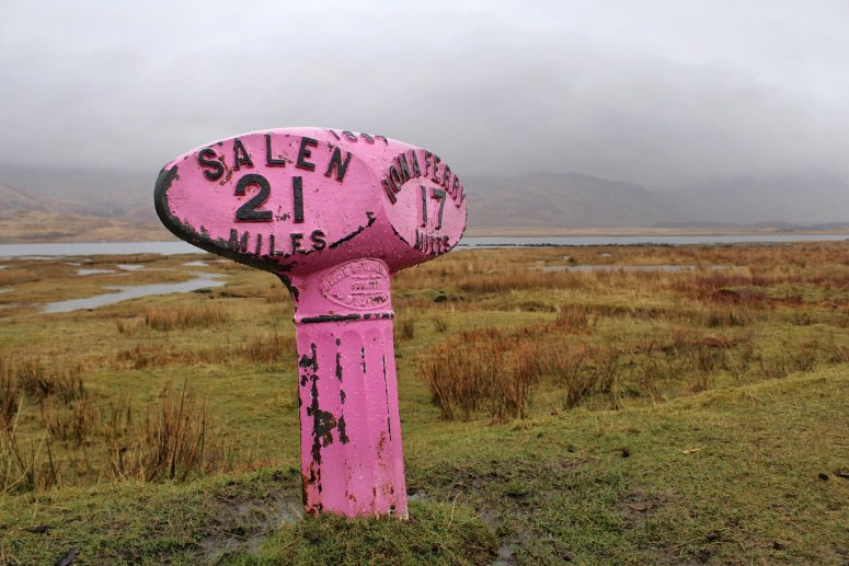 Isle of Mull, Road sign