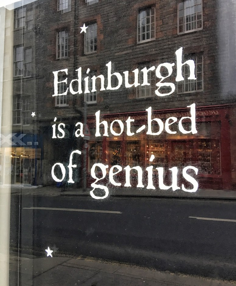 Edinburgh is a hot-bed of genius