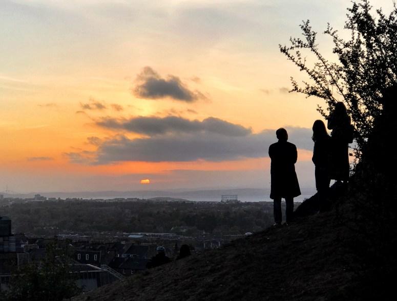 Sunset Calton Hill