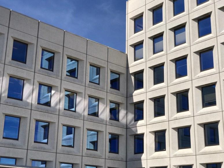 Building with blue eyes, Copenhagen