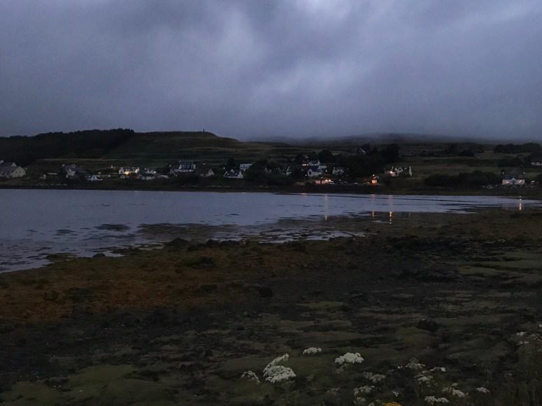 Night falls on Dunvegan, Skye
