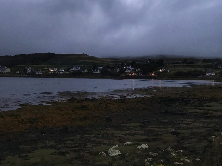 Night falls on Dunvegan, Skye