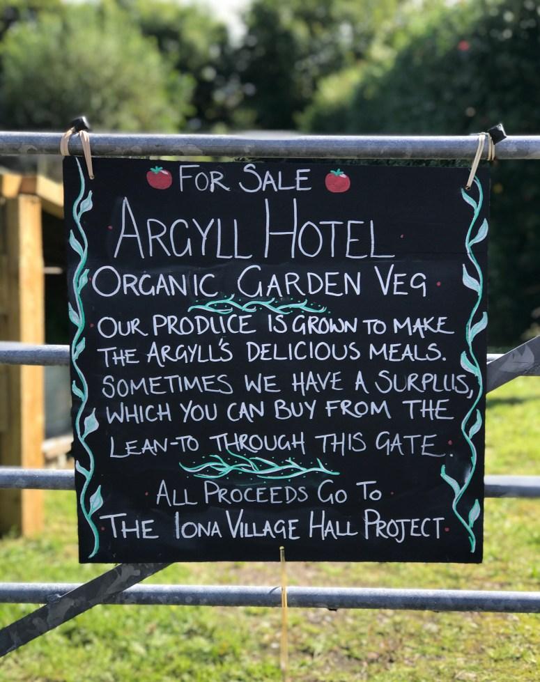 Argyll Hotel, Isle of Iona