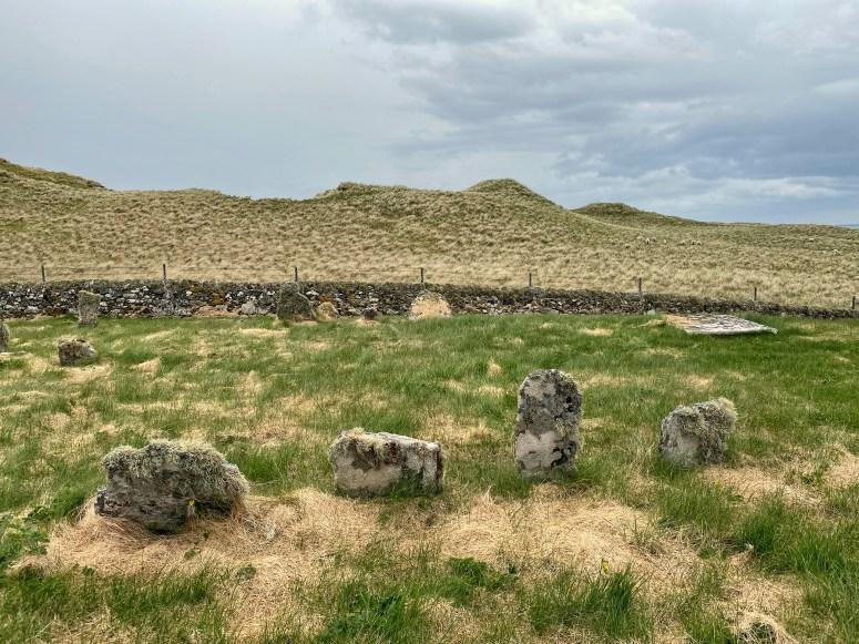 Historic graves, Killunaig Church, Coll