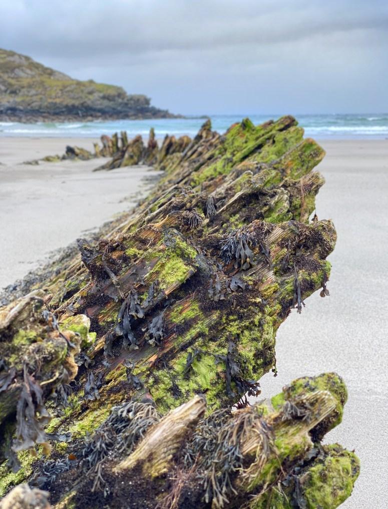 Shipwreck of Harmonie, Gorton Bay, Isle of Coll