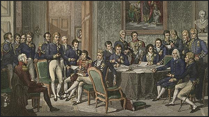 This was the Congress of Vienna in 1815, it ended the Napoleonic Wars and reaffirmed the old imperial order with modest adjustments. This order would keep the peace from 1815 until the First World War in 1914 (99 years). However, toward the collapse of the Congress of Vienna system, the world was racked by several brush wars and arms races, particularly with the Germans. It was only inevitable before Vienna Peace broke apart at the turn of the twentieth century.