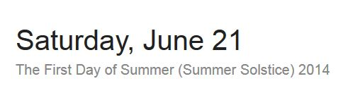 First Day Of Summer 2014