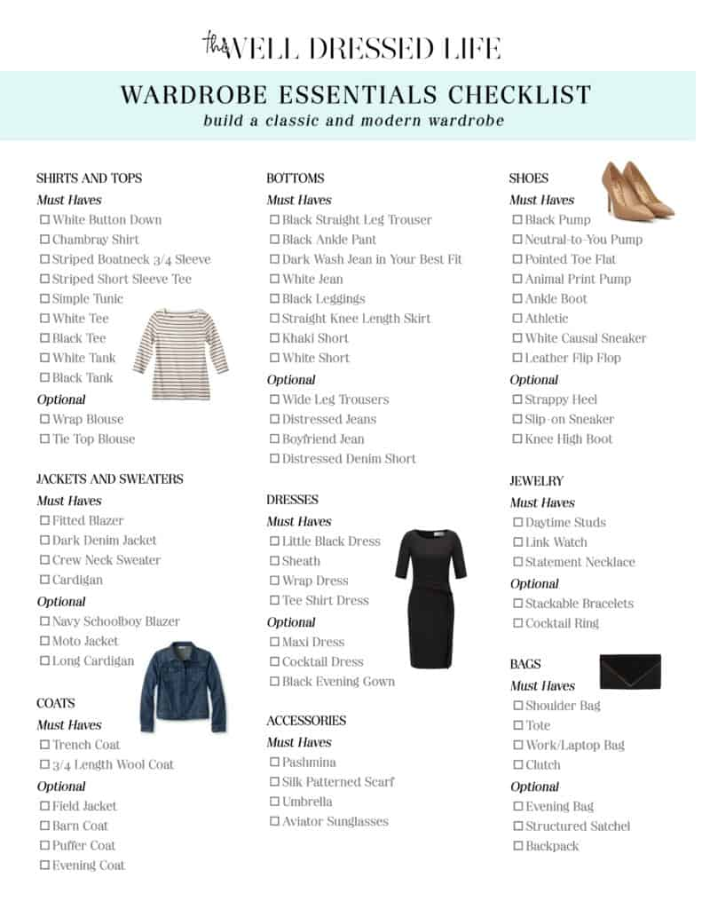 The Well Dressed Life Wardrobe Checklist