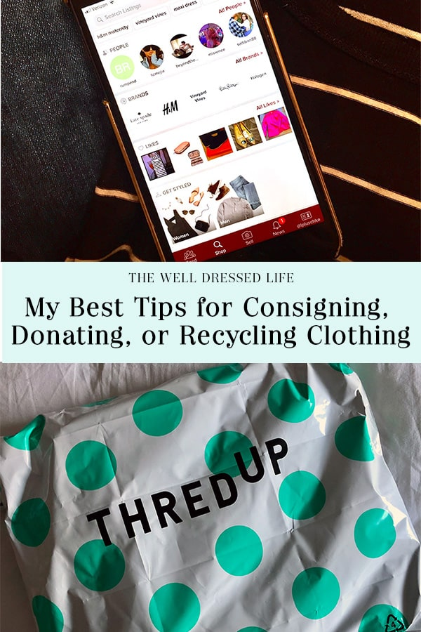 My Best Tips for Consigning, Donating, or Recycling Clothes - The Well Dressed Life