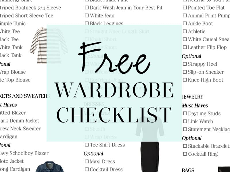 FREE Printable Wardrobe Essentials Checklist