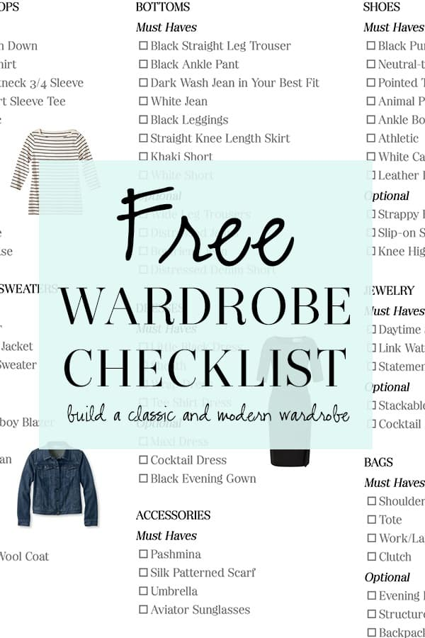 Wardrobe Essentials Checklist: How to Build a Wardrobe of Staples