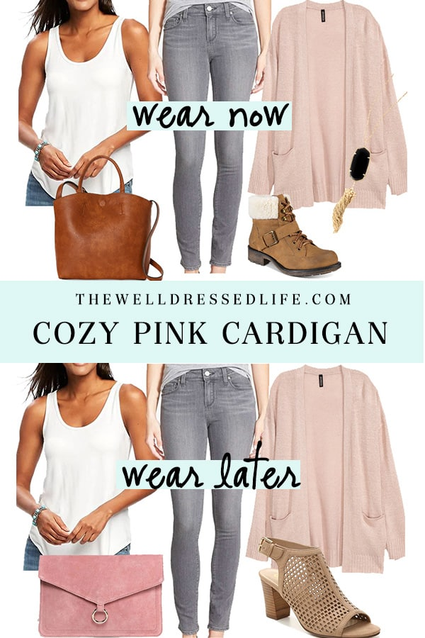 Weekend Inspiration: Cozy Pink Cardigan