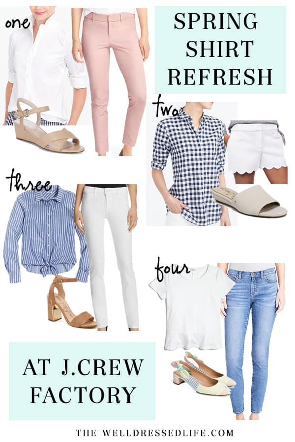 Spring Shirt Refresh at J.Crew Factory - The Well Dressed Life