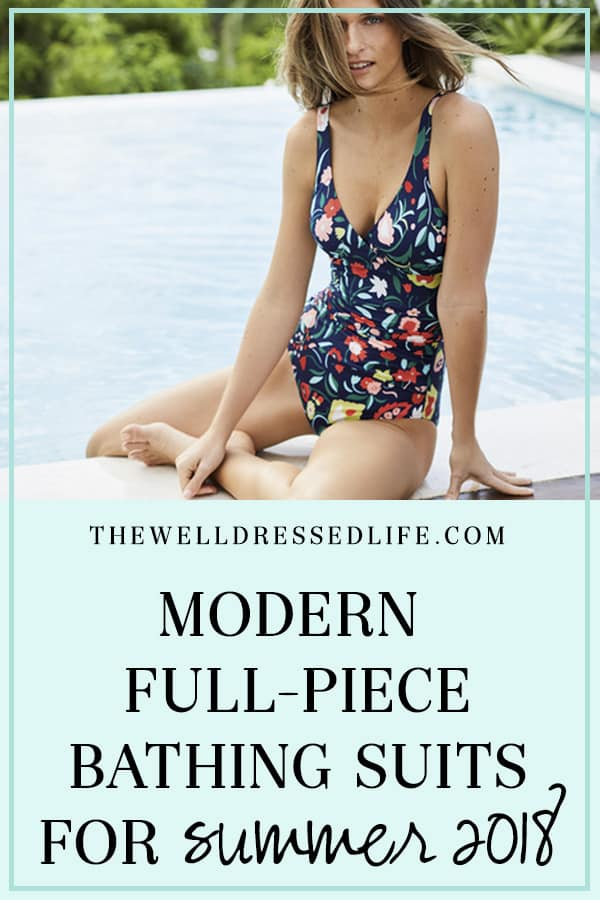 Modern Full-Piece Bathing Suits for Summer 2018