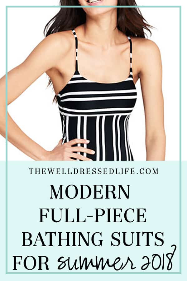 Modern Full Piece Bathing Suits for Summer 2018 - The Well Dressed Life