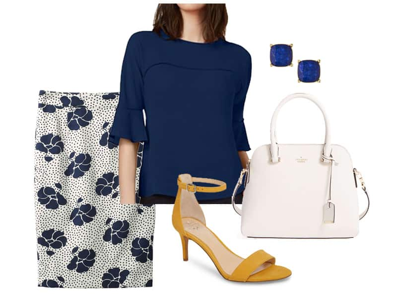 Wear to Work: Floral Boden Skirt