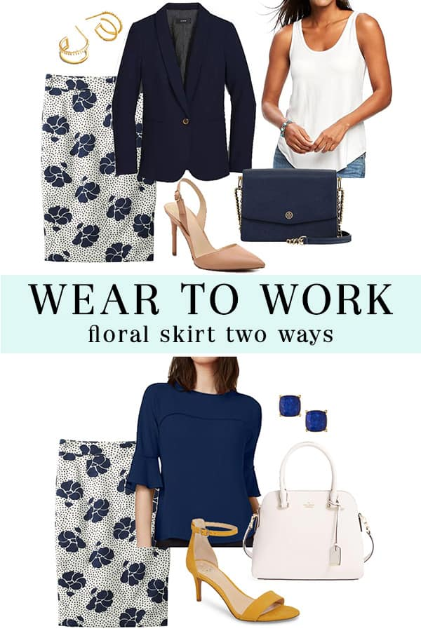 Wear to Work: Floral Boden Skirt - The Well Dressed Life