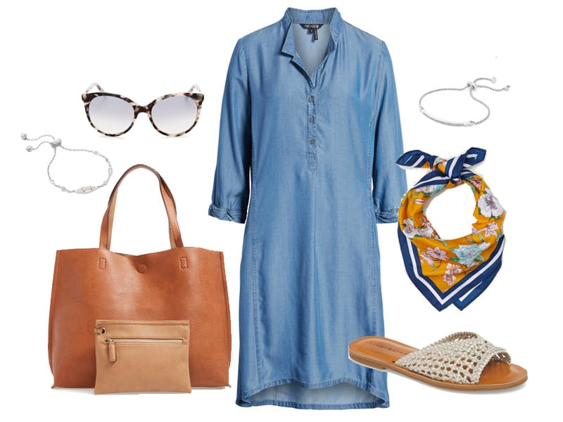 How to Wear a Chambray Dress in the Summer