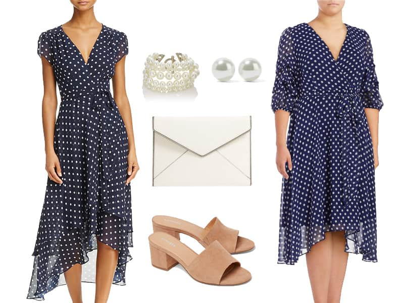 Polka Dot Dress For After Work Events