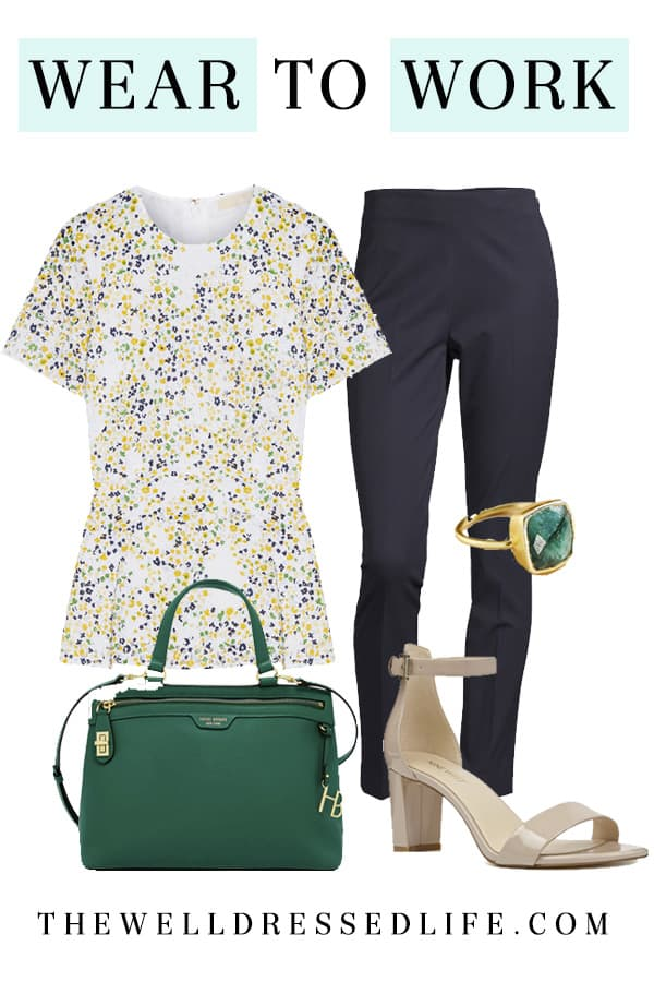 Wear to Work: Floral Peplum - The Well Dressed Life