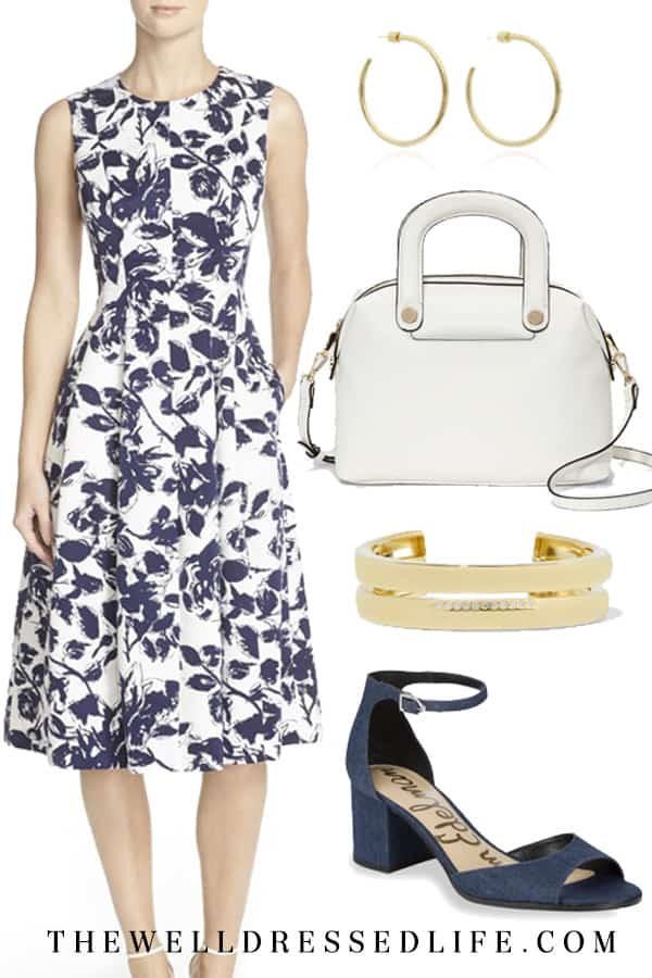 Pretty Floral Dress for the Office - The Well Dressed Life