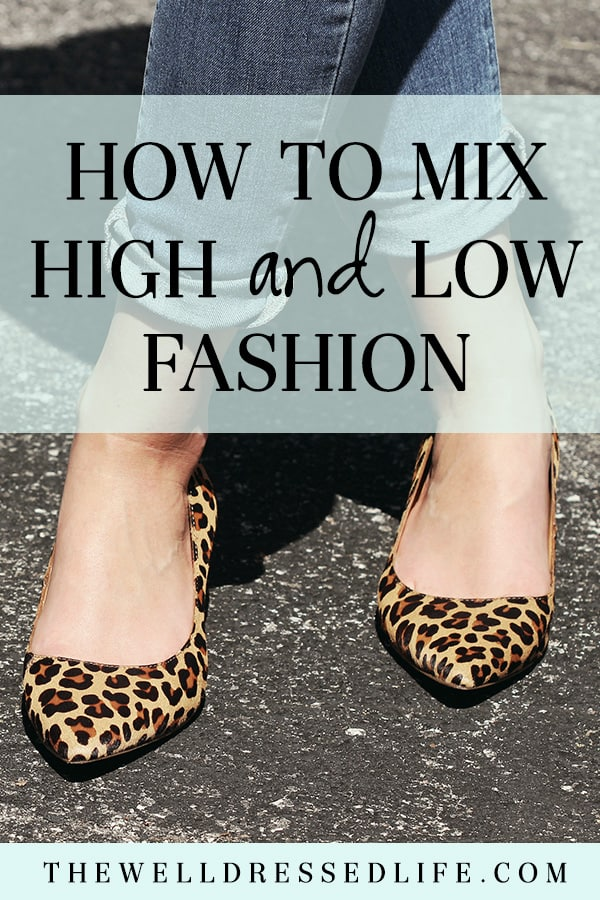 How to Mix High and Low Fashion