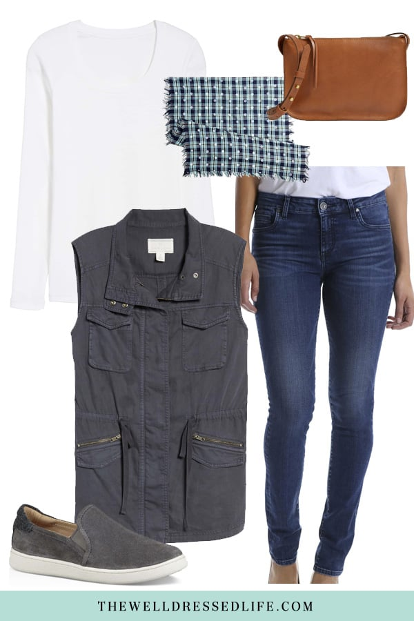 Weekend Inspiration: Navy Utility Vest - The Well Dressed Life