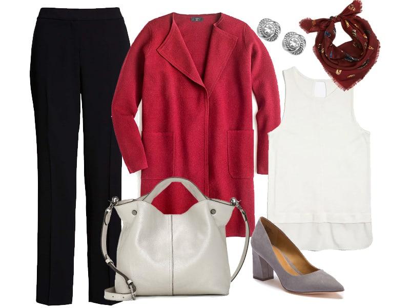 Wear to Work: Burgundy Sweater Blazer