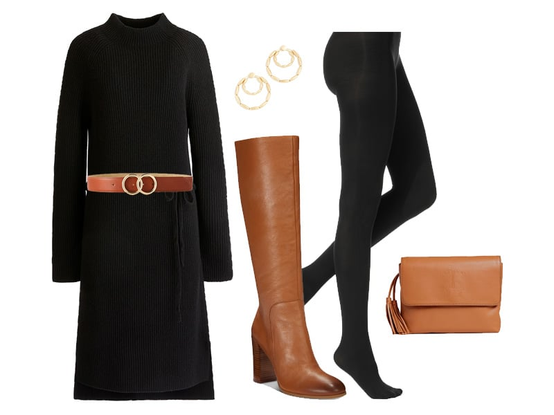 Weekend Outfit Inspiration: Cognac Knee High Boots
