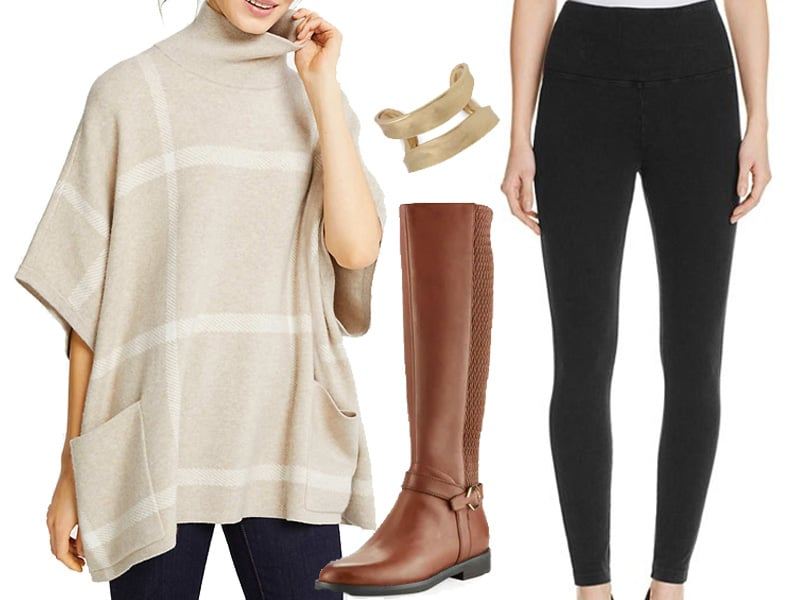 Weekend Outfit Inspiration: Poncho Sweater