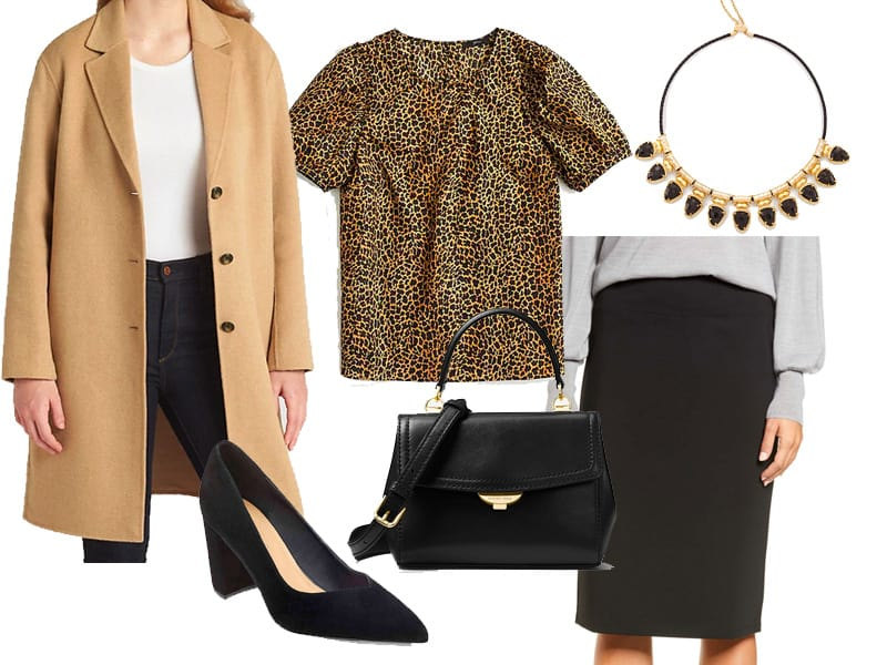 Wear to Work Outfit Inspiration: Leopard Print Top