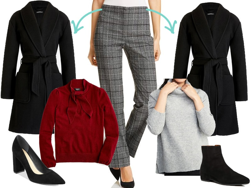 Wear to Work Inspiration Outfit: Plaid Pants, Two Ways