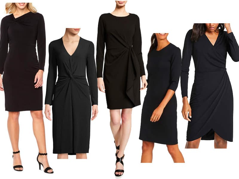 Wear to Work Outfits - 5 Black Dresses that aren't boring