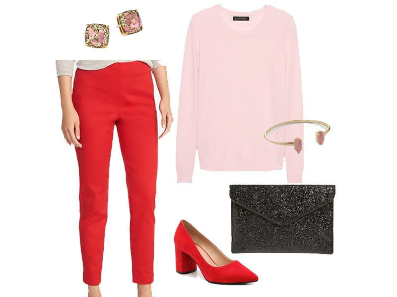 How to Wear Pink and Red Together