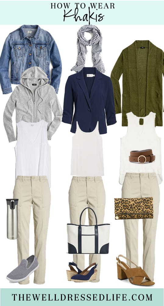 Weekend Outfit Inspiration: Khaki Cargos Three Ways