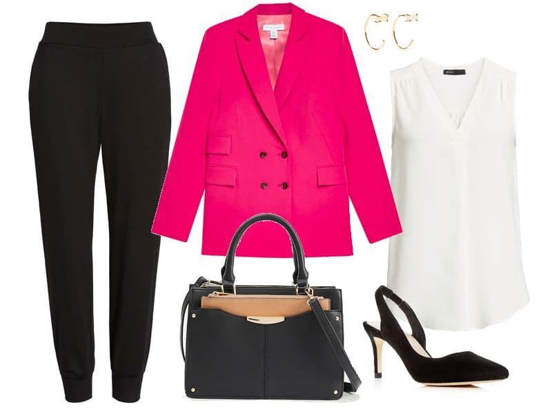 Hot Pink Blazer Outfit to Wear to Work