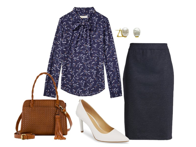 Wear to Work: Print Blouse