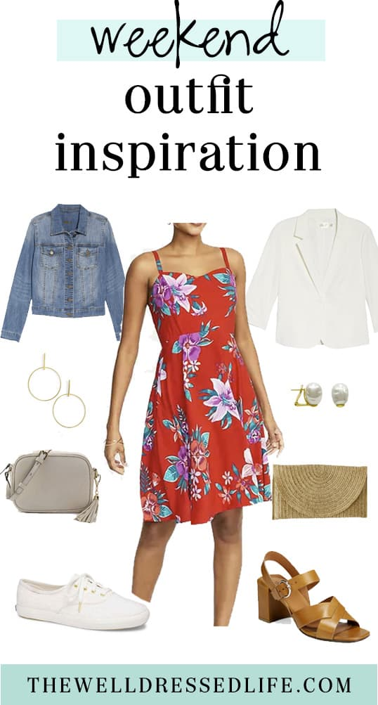 Weekend Outfit Inspiration: A $35 Floral Dress Two Ways