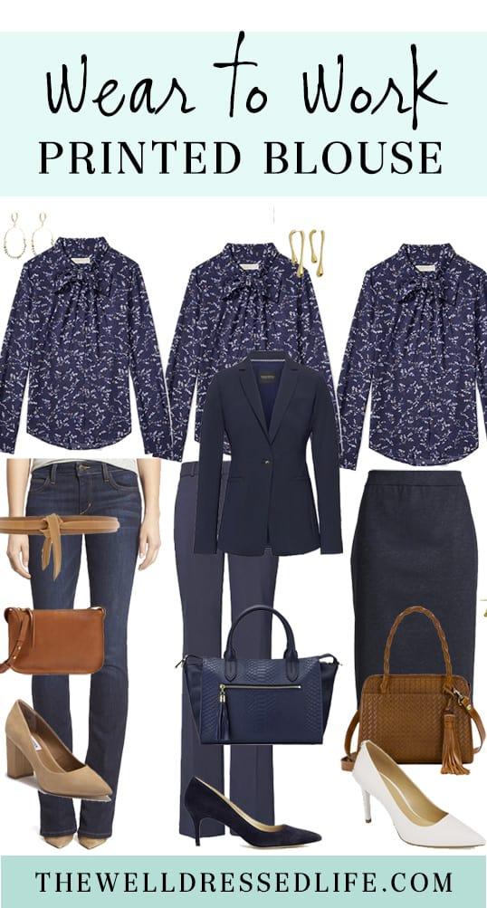 Wear to Work: Print Blouse Three Ways