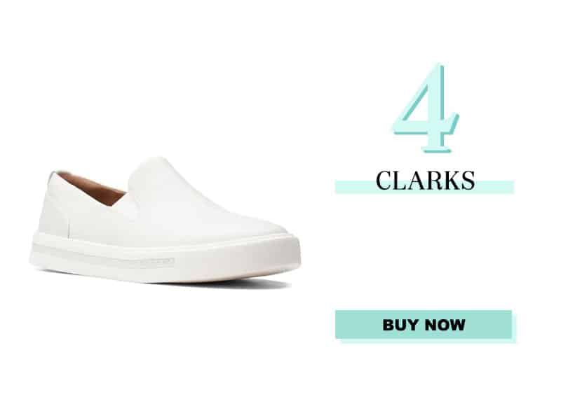 Clarks White Sneakers