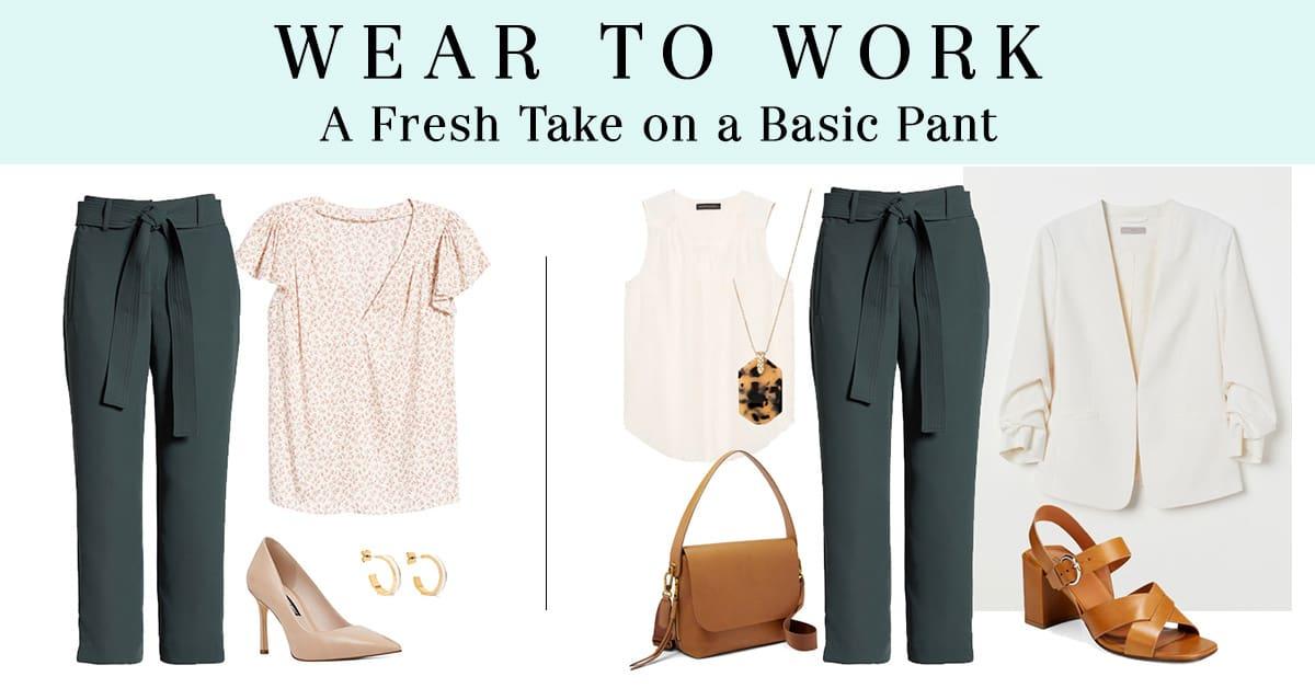 How to Wear Tie-Waist Pants