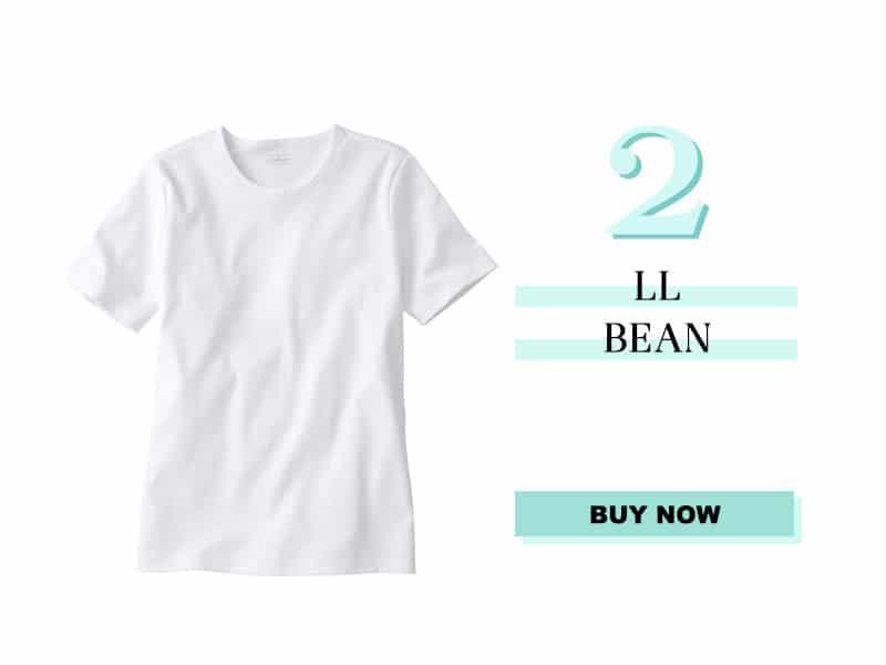 LL Bean White Tee Shirt