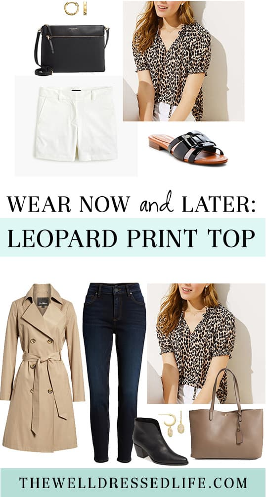 Wear Now and Later: Loft Leopard Print Top