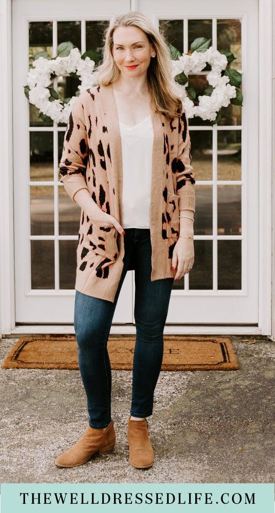 My Favorite Leopard Cardigan (under $40!)