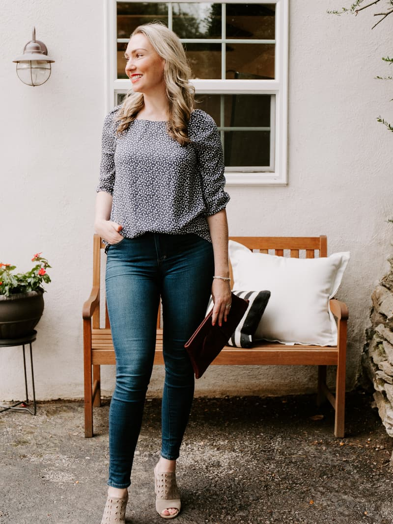 Weekend Outfit Inspiration: Elevated Top and Jeans